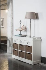 Home&Deko Wohnen in Weiß Riviera Esszimmer Anrichte