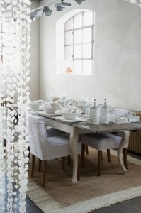 Home&Deko Wohnen in Weiß Riviera Esszimmer Tisch