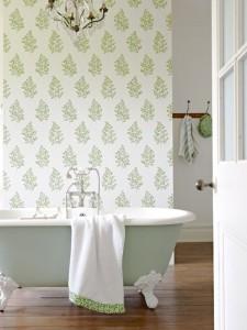 Angel Ferns wallpaper with bath_LR