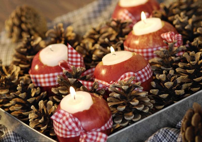 Herbstliche Apfellichter
