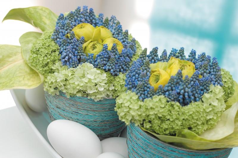 BBH Bukett mit Ostereiern