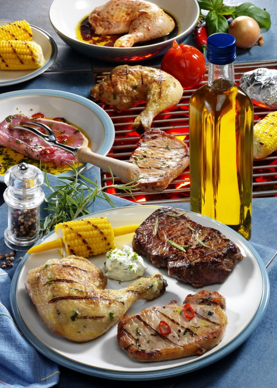 Dreierlei-Fleisch-Grill