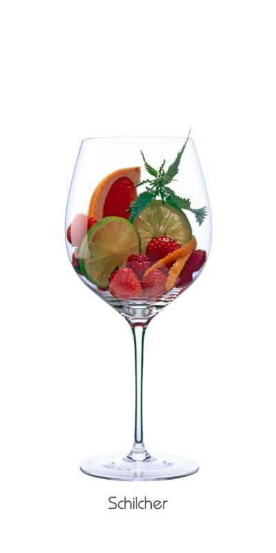 Erdbeere, Himbeere, Blutorange, Orange (Schale), Limette, Brennnessel